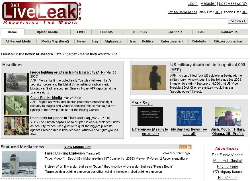 sites similar to liveleak