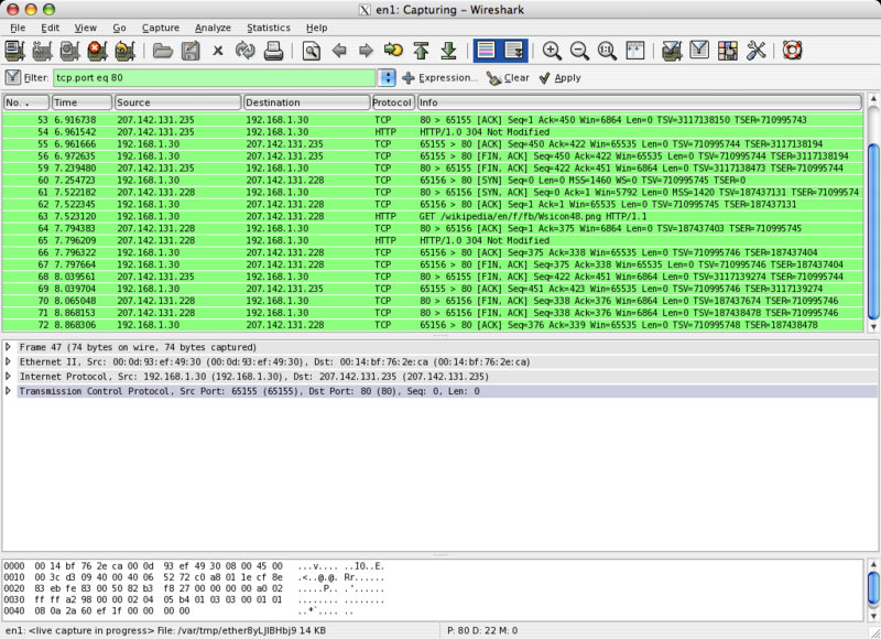 Wireshark – packet sniffer, network protocol analyzer | funk eu