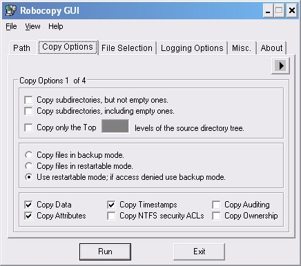 Robocopy GUI | funk eu   hey, it's just me