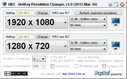 HRC – HotKey Resolution Changer | funk eu   hey, it's just me